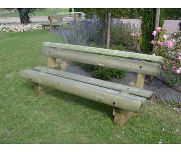 Banc en bois avec dossier Forestier fabriqué en France par CIHB