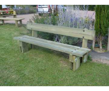 Banc en bois Jardin Public fabriqué en France par CIHB.
