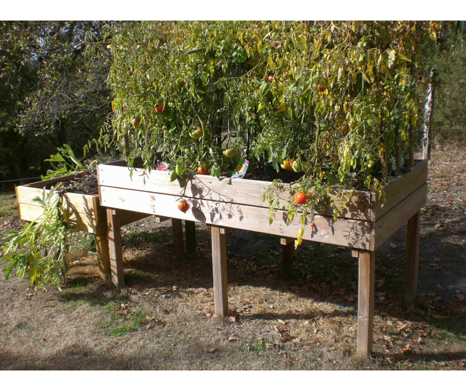 Table potagère en bois grandes dimensions, fabriquée en France par CIHB