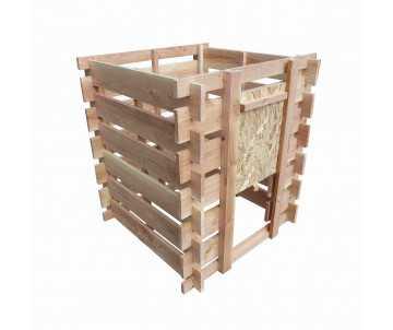 Composteur en bois douglas naturel-390 litres, fabriqué en France par CIHB