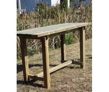 Table haute-mange debout grand format, en bois par CIHB