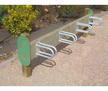 Claie à vélo 4 positions fabriquée en France par CIH-bois certifié PEFC
