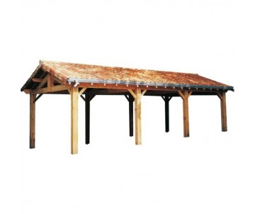 Abri voitures en bois-charpente traditionnelle par CIHB