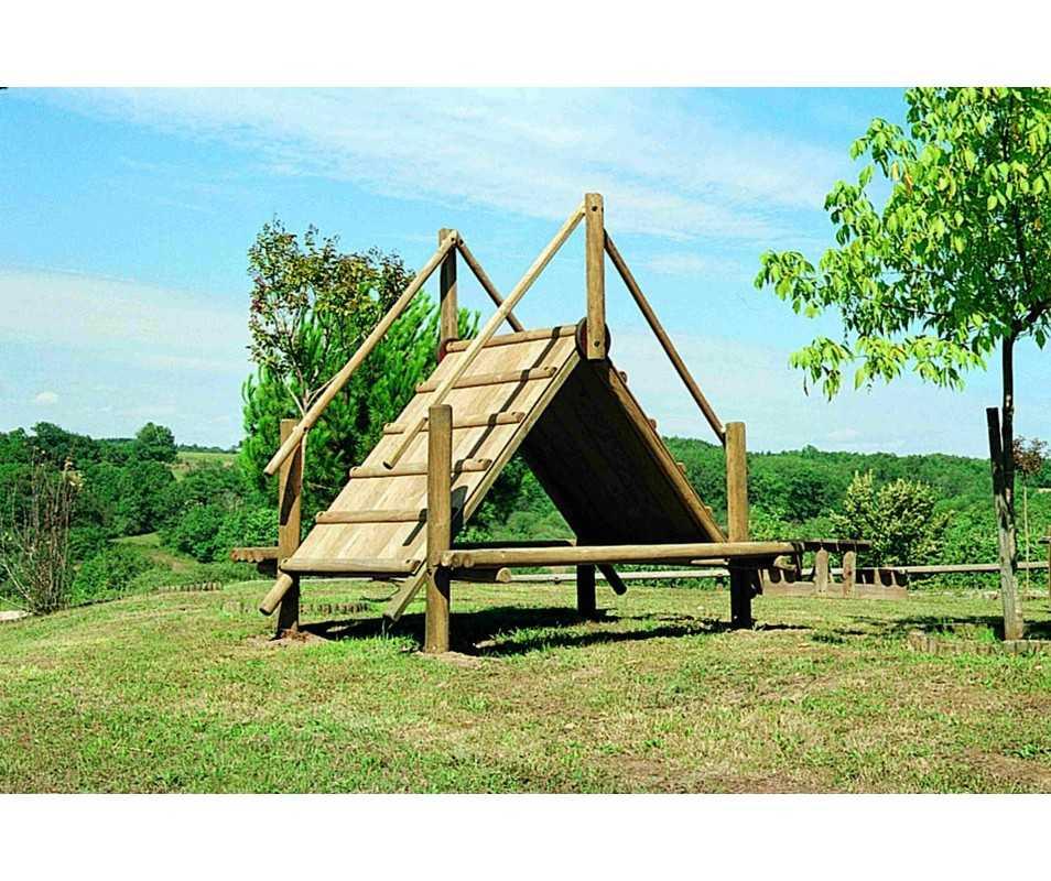 Jeux pour collectivités, hutte à grimper fabriquée en France par CIHB