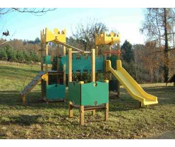 Jeux extérieur en bois pour collectivités fabriqué en France-Fortin Montbrun