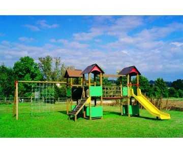 jeu pour collectivités et aires de jeux enfants de 6 à 12 ans-Citadelle d'Elodie à 9 modules