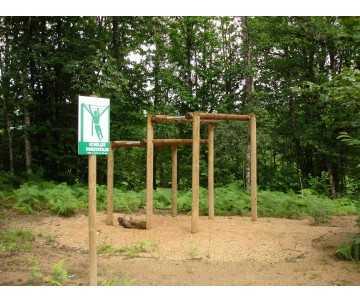 Echelles horizontales-atelier sportif pour parcours de santé et sportif-jeu plein air