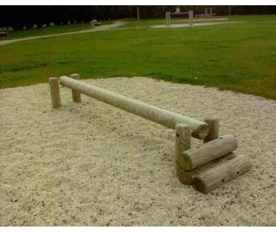 Barre d'équilibre-atelier sportif pour parcours de santé-jeux de plein air