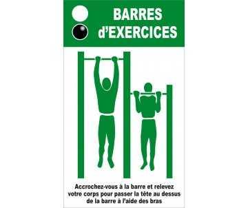 Panneau silhouette pour barres d'exercice pour jeux de plein air et parcours de santé