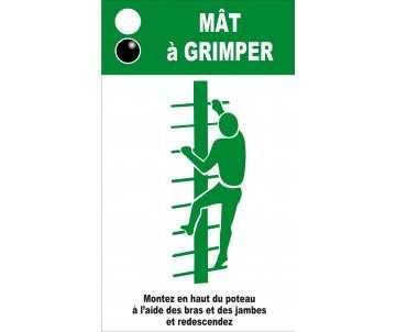 Panneau silhouette pour mât à grimper pour jeux de plein aire et parcours de santé