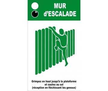 Panneau silhouette pour mur d'escalade pour jeux de plein air et parcours de santé
