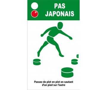 Panneau silhouette pour pas japonais pour jeux en plein air et parcours de santé