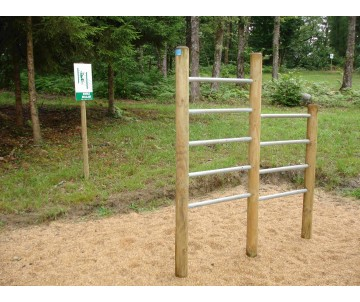 Double escalade-atelier sportif pour parcours sportif et jeux de plein air.