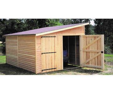 Garage en bois 1 pan