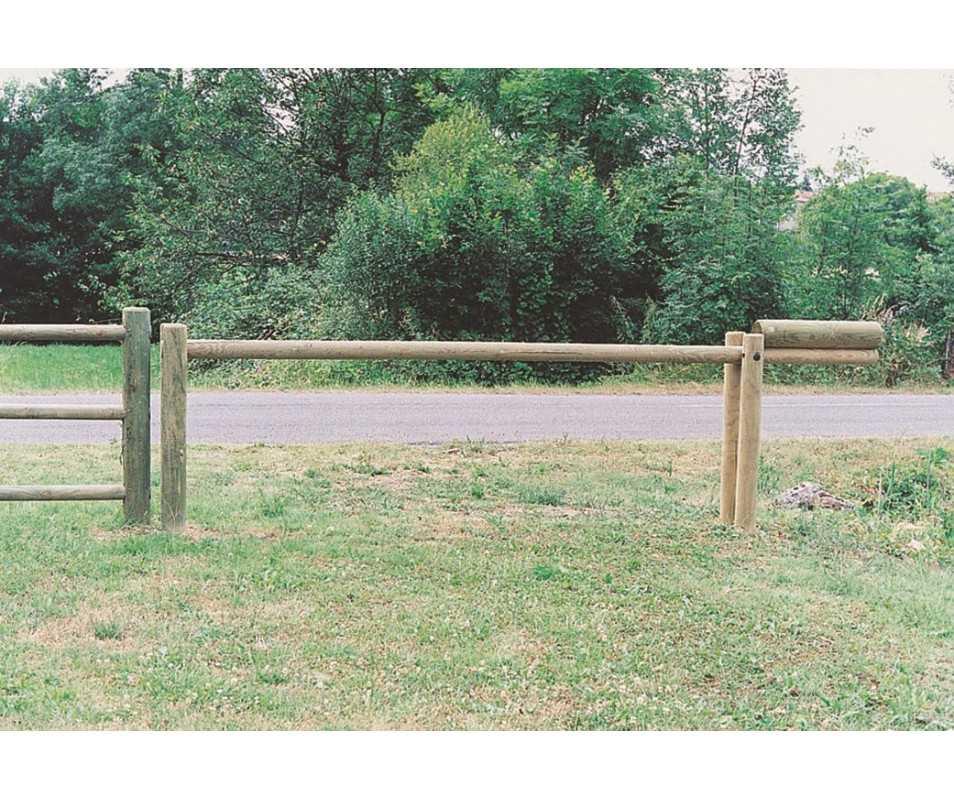 Barrière bois basculante par CIHB-bois PEFC et traitement autoclave classe IV certifié CTB-B+