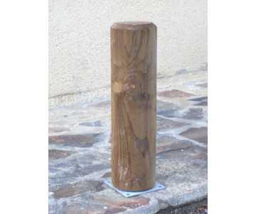Borne en bois diam 14 cm par CIHB-Bois certifié PEFC; traitement autoclave CTB-B+