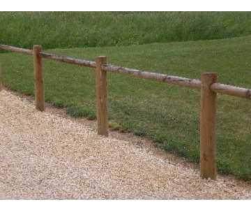 Clôture en bois 1 lisse à emboiter par CIHB-fabrication française. Bois certifié PEFC et traitement autoclave classe IV