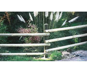 Clôture en bois type Ranch fabriquée en France par CIHB-Bois PEFC pour une gestion durable des forêts