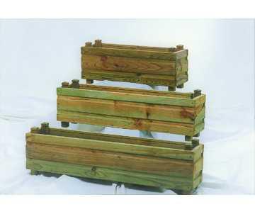 Jardinière rectangulaire bois de qualité,fabriquée en France par CIHB