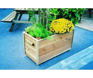 Jardinière bois Collectivités fabriquée en France par CIHB