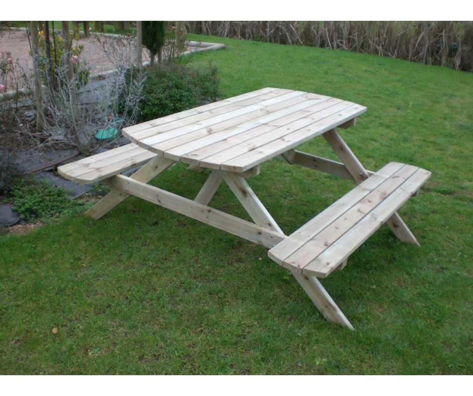 table de pique en bois AQUITAINE